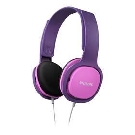 Slúchadlá Philips SHK2000 (SHK2000PK/00) ružová/fialová