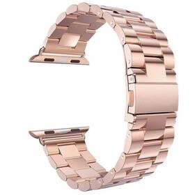 Remienok WG na Apple Watch, kovový pletený  + adapter 42/44mm (9153) ružový