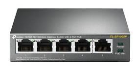 Switch TP-Link TL-SF1005P (TL-SF1005P) sivý