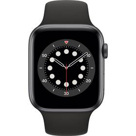 Inteligentné hodinky Apple Watch Series 6 GPS 44mm púzdro z vesmírne sivého hliníka - čierny športový náramok (M00H3VR/A)