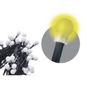 Vianočné osvetlenie EMOS 50 LED, cherry řetěz – kuličky, 2,5m, vnitřní, teplá bílá (1534220020)