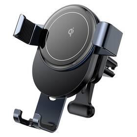 Držiak na mobil Joyroom JR-ZS212 Blue Whale Gravitační, bezdrátové nabíjení, do mřížky sivý