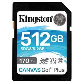 Pamäťová karta Kingston Canvas Go! Plus SDXC 512GB UHS-I U3 (170R/90W) (SDG3/512GB)