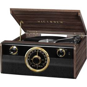 Gramofón Victrola VTA-240B drevený