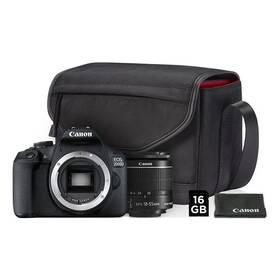 Digitálny fotoaparát Canon EOS 2000D + 18-55 IS II + SB130 + 16 GB karta (2728C013AA) čierny