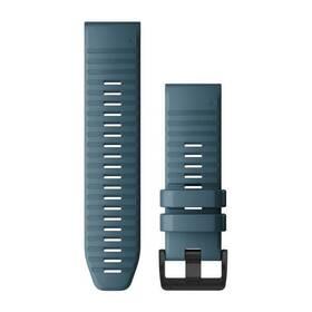 Remienok Garmin QuickFit 26mm pro Fenix5X/6X, silikonový, modrý, černá přezka (010-12864-03)