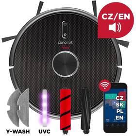 Robotický vysávač Concept VR3210 3v1 REAL FORCE Laser UVC Y-wash čierny