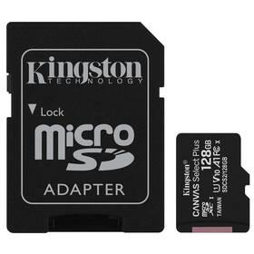 Pamäťová karta Kingston Canvas Select Plus MicroSDXC 128GB UHS-I U1 (100R/10W) + adapter (SDCS2/128GB)