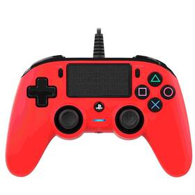 Gamepad Nacon Wired Compact Controller pro PS4 (ps4hwnaconwccred) červený