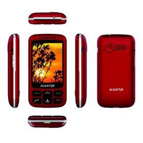 Mobilný telefón Aligator VS 900 Senior Dual SIM (AVS900RS) strieborný/červený