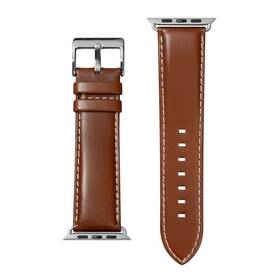 Remienok LAUT Oxford na Apple Watch 42/44/45 mm, napa kůže (LAUT-AWL-OX-BR) hnedý