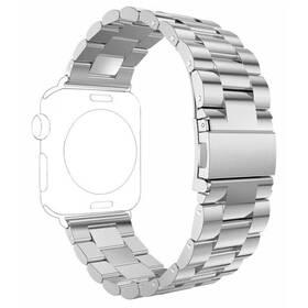 Remienok WG na Apple Watch, kovový pletený  + adapter 42/44/45 mm (9151) strieborný