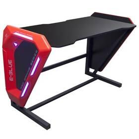 Herný stôl E-Blue 125x62 cm, podsvícený (EGT002BKAA-IA) čierny/červený