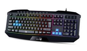 Klávesnica Genius GX Gaming Scorpion K215, CZ/SK (31310474106) čierna/modrá