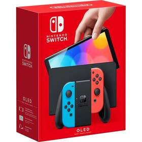 Herná konzola Nintendo SWITCH (OLED model) Neon red & Blue set (NSH007)