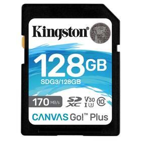 Pamäťová karta Kingston Canvas Go! Plus SDXC 128GB UHS-I U3 (170R/90W) (SDG3/128GB)