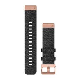 Remienok Garmin QuickFit 20mm pro Fenix5S/6S, nylonový, černý, růžovozlatá přezka (010-12874-00)