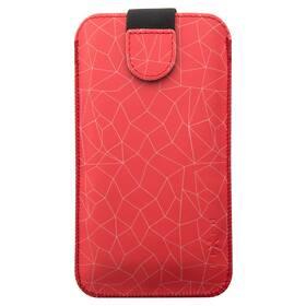 Púzdro na mobil FIXED Soft Slim, 5XL+ - Red Mesh (FIXSOS-RME-5XL+)