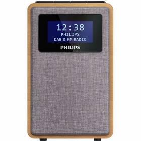 Rádioprijímač s DAB+ Philips TAR5005 drevený