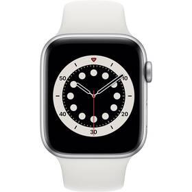 Inteligentné hodinky Apple Watch Series 6 GPS 40mm púzdro zo strieborného hliníka - biely športový náramok (MG283VR/A)