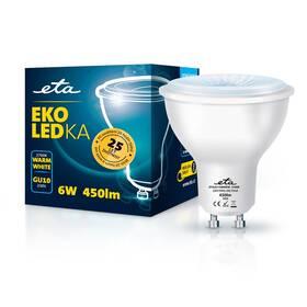 LED žiarovka ETA EKO LEDka bodová 6W, GU10, teplá biela (GU10W6WW)