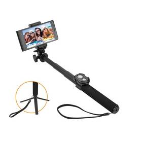 Selfie tyč GoGEN 5 teleskopická, bluetooth (GOGBTSELFIE5B) čierna