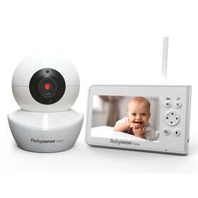 Detská elektronická pestúnka Babysense Video Baby Monitor V43 biela