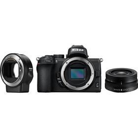 Digitálny fotoaparát Nikon Z50 + 16-50 VR + adaptér bajonetu FTZ (VOA050K004) čierny