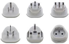 Cestovný adaptér Solight výměnné vidlice pro celý svět (368243)