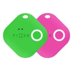 Kľúčenka FIXED Smile s motion senzorem, DUO PACK (FIXSM-SMM-GNPN) zelená/ružová