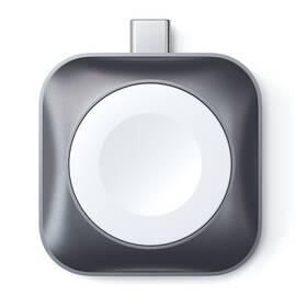 Nabíjačka Satechi USB-C Magnetic Charging Dock pro Apple Watch (ST-TCMCAWM) sivá
