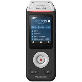 Diktafón Philips DVT2110 čierny/strieborný