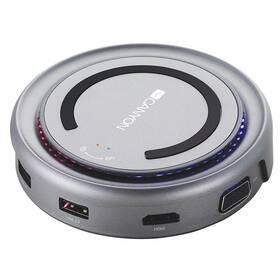 Dokovacia stanica Canyon USB/USB-C/HDMI/VGA/USB-C PD 100W (CNS-TDS07DG) sivá