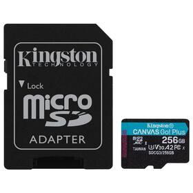 Pamäťová karta Kingston Canvas Go! Plus MicroSDXC 256GB UHS-I U3 (170R/90W) + adaptér (SDCG3/256GB)