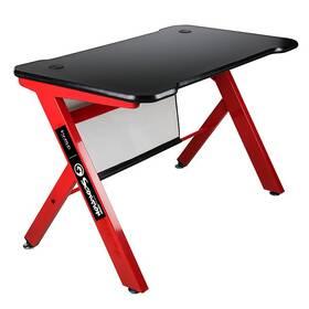 Herný stôl Marvo DE-03, 120x61 cm, podsvícený (DE-03) čierny/červený