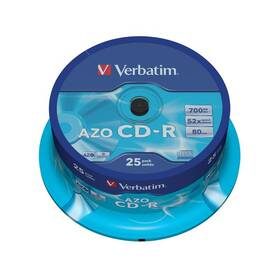 Disk Verbatim Crystal CD-R DLP 700MB/80min. 48x, 25-cake (43352)