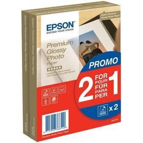 Fotopapier Epson Premium Glossy Photo 10x15, 225g, 80 listov (C13S042167) biely