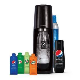 Výrobník sódovej vody SodaStream Spirit Black Pepsi MegaPack