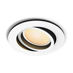 Vstavané svietidlo Philips Hue Milliskin White Ambiance Spot, kulaté (5041131P9) biele