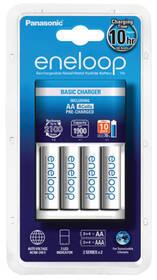 Nabíjačka Panasonic Eneloop Basic Charger pro AA, AAA + 4x Panasonic Eneloop 1900mAh (K-KJ51MCC40E ) biela