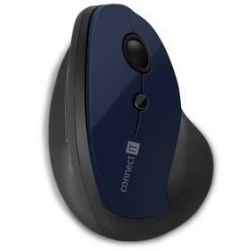 Myš Connect IT vertikální, ergonomická (CMO-2700-BL) modrá