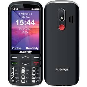 Mobilný telefón Aligator A830 Senior + stojánek (A830B) čierny