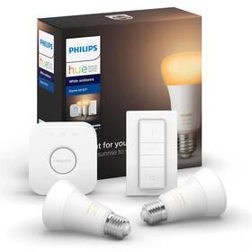 Štartovacia sada Philips Hue 9W, E27, White Ambiance (2ks) + bridge + Switch (8718699736088)