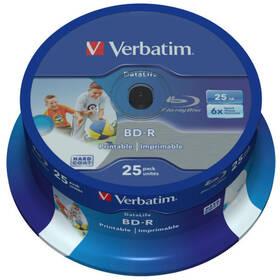 Disk Verbatim BD-R SL 25GB, 6x, 25-cake (43811)