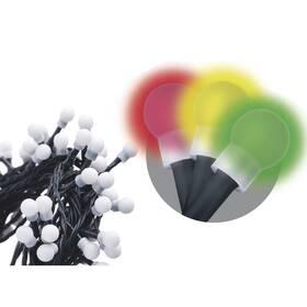 Vianočné osvetlenie EMOS 80 LED, kulička, 8m, řetěz, vícebarevná, časovač, i venkovní použití (1534091015)