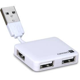 USB Hub Connect IT USB 2.0 / 4x USB 2.0 (CI-52) biely