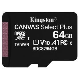 Pamäťová karta Kingston Canvas Select Plus MicroSDXC 64GB UHS-I U1 (100R/10W) (SDCS2/64GBSP)