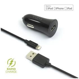 Adaptér do auta FIXED 1x USB, 2,4A + Lightning kabel (FIXCC-UL-BK) čierny