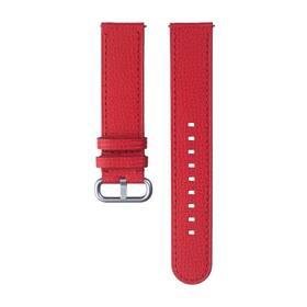 Remienok Samsung Braloba Essence 20mm na Galaxy Watch Active 2, kožený, 20mm (GP-TYR820BRBRW) červený