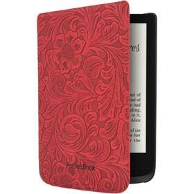 Puzdro pre čítačku e-kníh Pocket Book 616/627/628/632/633 - red flowers (HPUC-632-R-F)